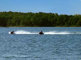 Jet Skiing on Patoka